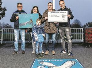 von links: Rainer Rutsch, Nina, Mika und Michael Dresemann und Andreas Thygs