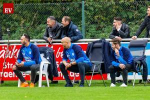 Fortuna-Erfolgs-Trainer Francesco Catanzaro (Mi.) hatte viel Spaß.
