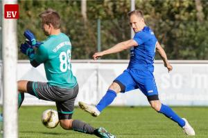 Der Siegtreffer: Sven Brüning (rechts) trifft in der 57. Minute zum 3:2-Erfolg für die Fortuna.